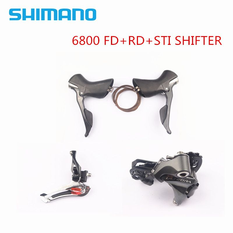 BESTEN PREIS! SHIMANO Ultegra 6800 Schaltwerke STRAßE Fahrrad Umwerfer + Schaltwerk + Shifter