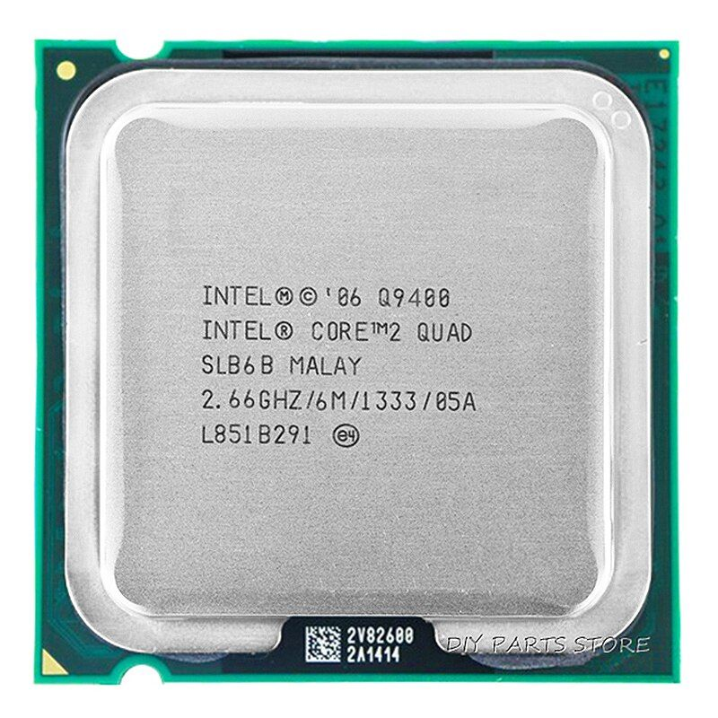 4 core INTEL Core 2 Quad Q9400 Socket LGA 775CPU INTEL Q9400 Processeur 2.66 ghz/6 m/1333 ghz)