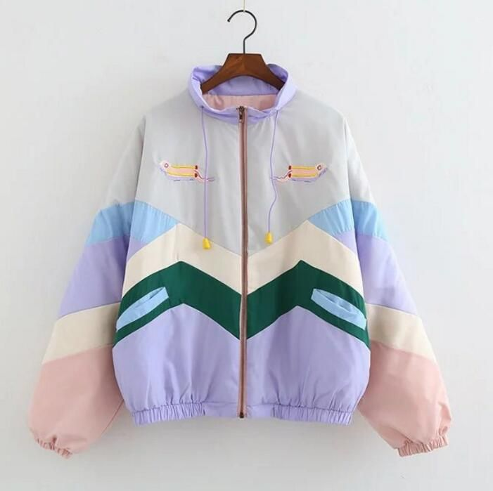 Fall new product stitching color sunscreen jacket female