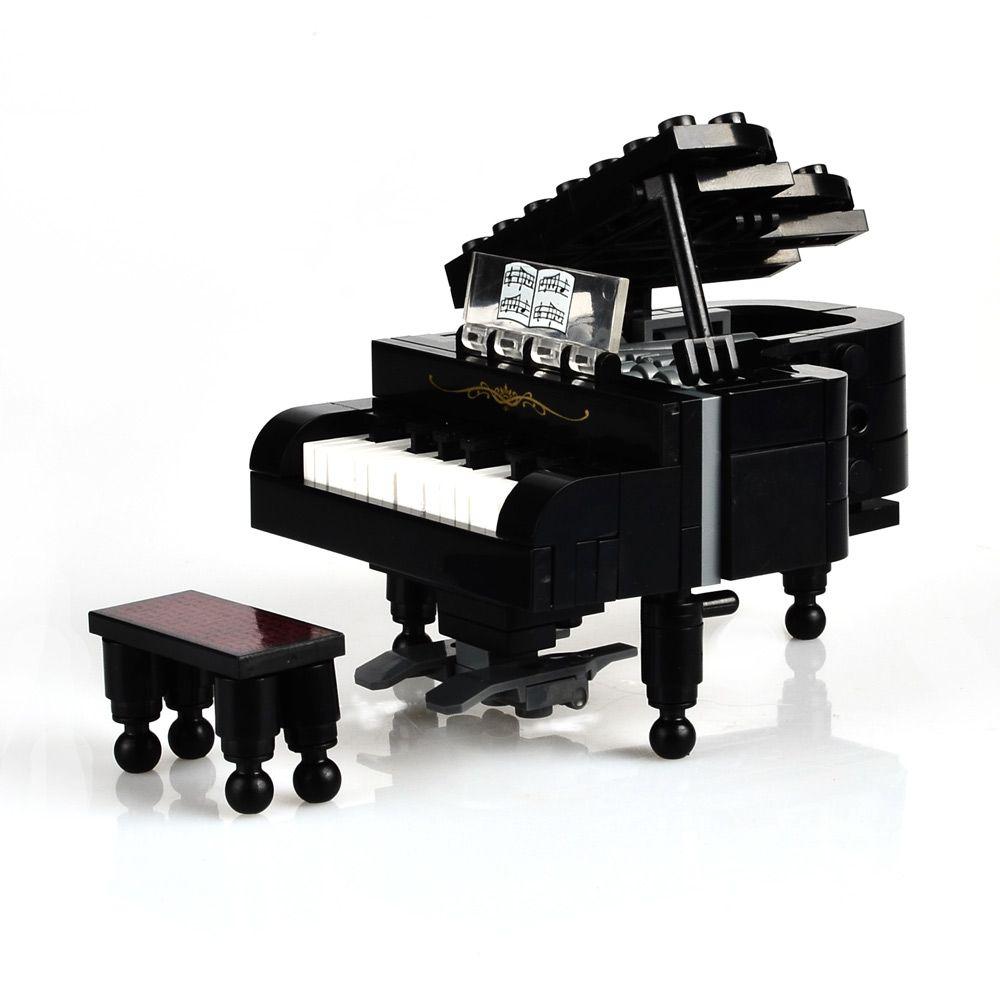 SSTB Ville Piano Instrument de musique Blocs de Construction Enfant Enfants Éducatifs Modèles Pianiste Musicien Jouet, 141 pcs
