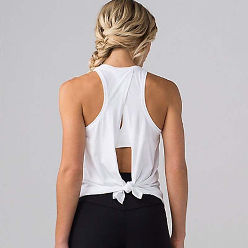 Femmes débardeurs de yoga à séchage Rapide L'exercice de la Séance D'entraînement des femmes Vêtements De Sport Sport T-Shirts top de fitness Chemise femme vêtements de sport