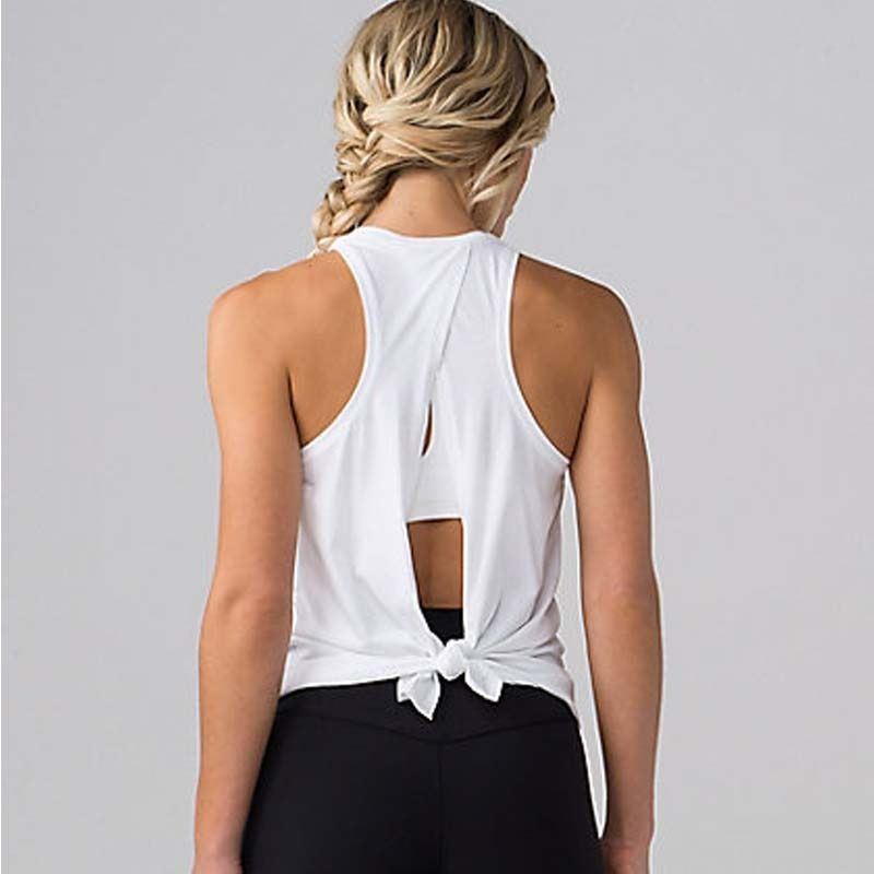 Women Yoga Tank Tops Quick-dry Exercise Women's Workout Gym Clothes Sports T-Shirts Fitness Top women Shirt sportswear