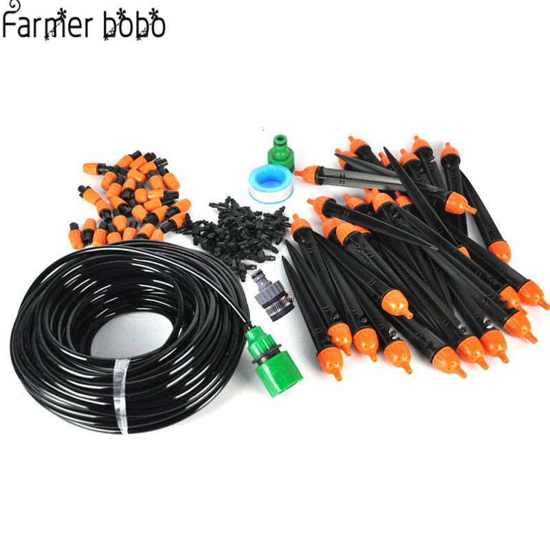 25M Garden DIY Micro Drip Irrigation System Plant Self Automatic Watering Timer Garden Hose Kits Dripping Sprinklers