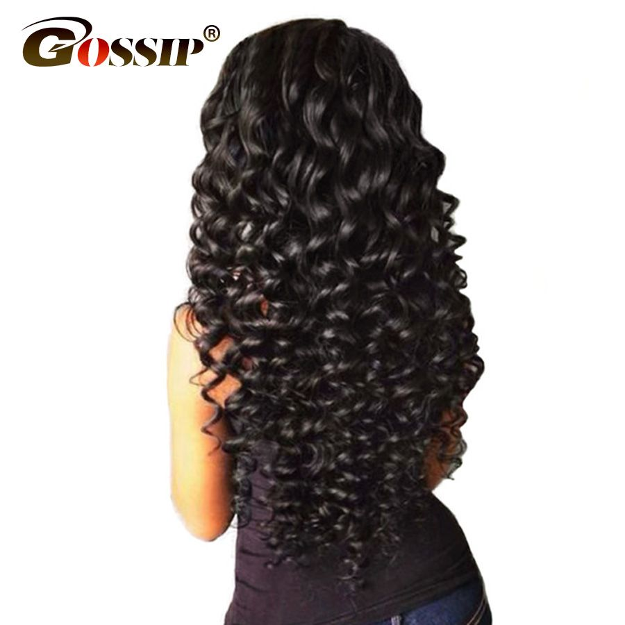 Brazilian Deep Wave Lace Front Human Hair Wigs With Baby Hair Gossip Curly Lace Front Wigs For Black Women Non Remy Lace Wig