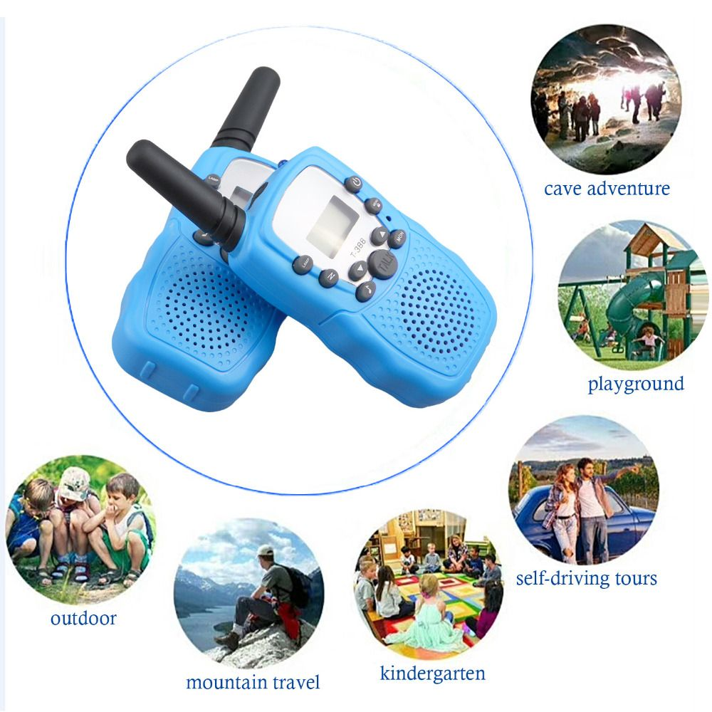 2PCS 3-5km Range Two Way Walkie Talkies Radio Interphone Toys for Children Kids Outdoor Walking Camping Gifts
