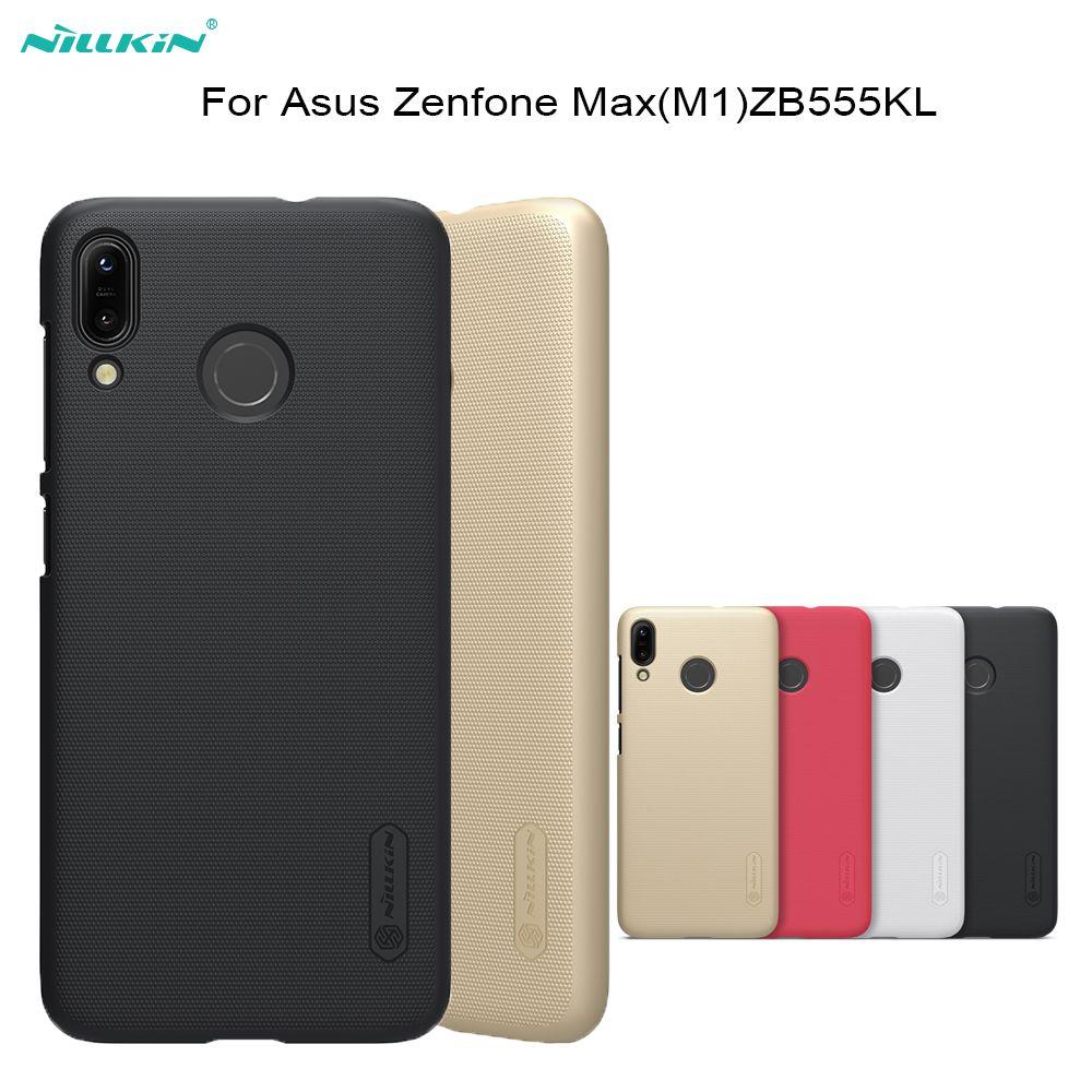 Pour asus Zenfone Max (M1) /ZB555KL cas Nillkin Super Givré PC dur de couverture arrière en plastique cas pour Zenfone ZB555KL téléphone sacs Couverture