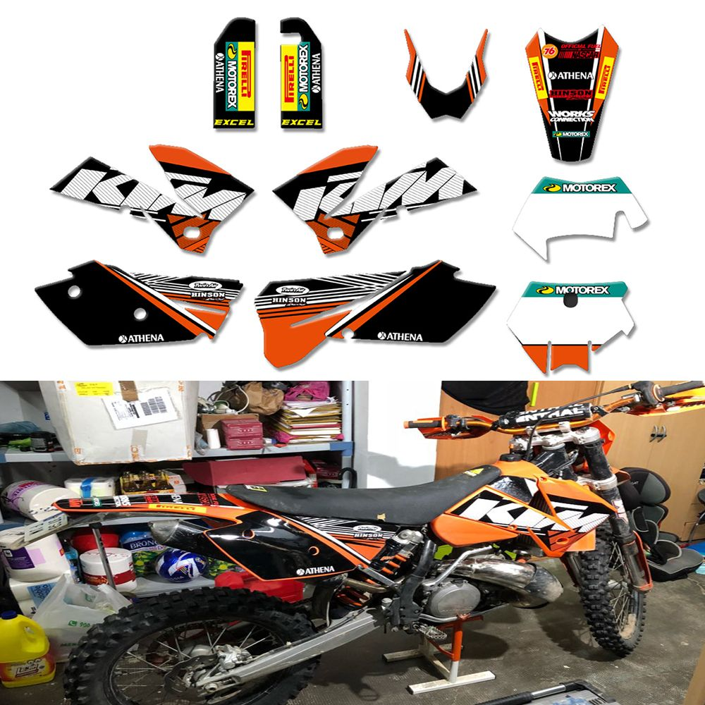 Hot Team Graphics Delcas Stickers For KTM 125 200 250 300 350 400 450 525 SXF MXC SX EXC XC 2005 2006 2007