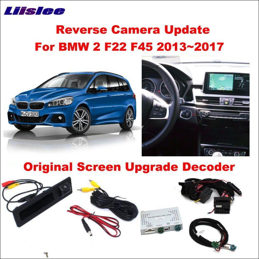 Liislee Original Bildschirm Update-System Für BMW 2 F22 F45 2013 ~ 2017/Umkehr Modul + Hinten Kamera/ decode Track Box NBT System
