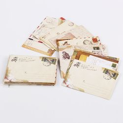 New Vintage Paper Envelopes Style Ancient Gift Letter Pad Pack Office School Supply Mini Envelop Paper Card Envelopes 12PCS/set