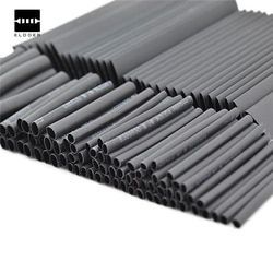 127 PCS 7.28m Black 2:1 Assortment Heat Shrink Tubing Tube Car Cable Sleeving Wrap Wire Kit