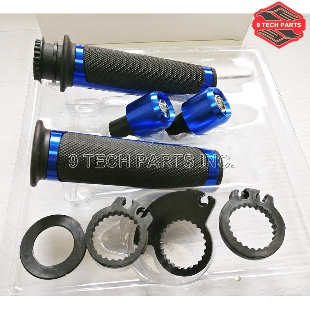 Universal CNC 7/8'' Motorcycle Handle bar CAPS / Handlebar Grips Kit 22mm Street & Racing Moto for BARRACUDA Grips with end