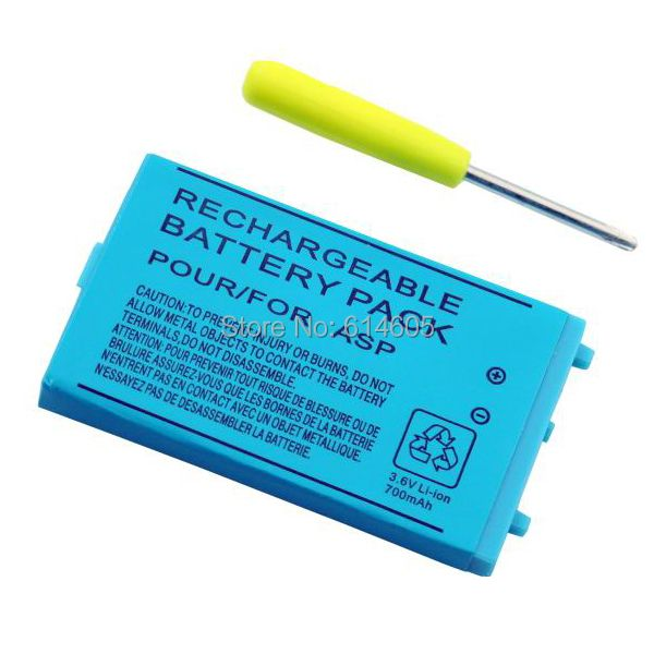 700mAh Rechargeable Lithium-ion Battery + Tool Pack Kit for Nintendo GBA SP
