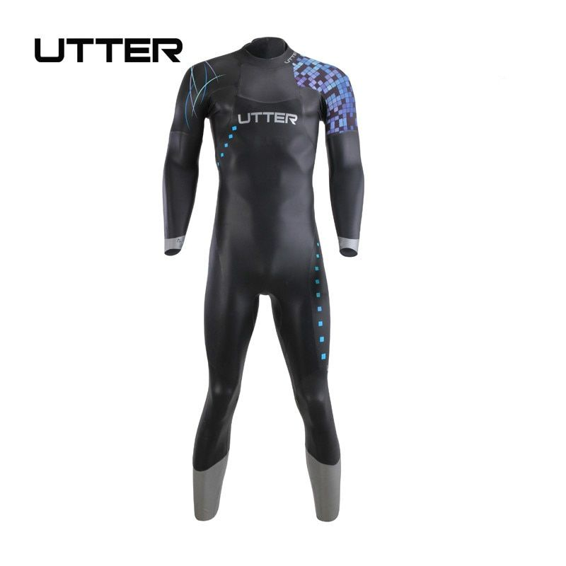 UTTER Galaxy Men's SCS Triathlon Suit Yamamoto Neoprene Swimsuit Long Sleeve Wetsuit Surf Suits for Surfing Swimwear