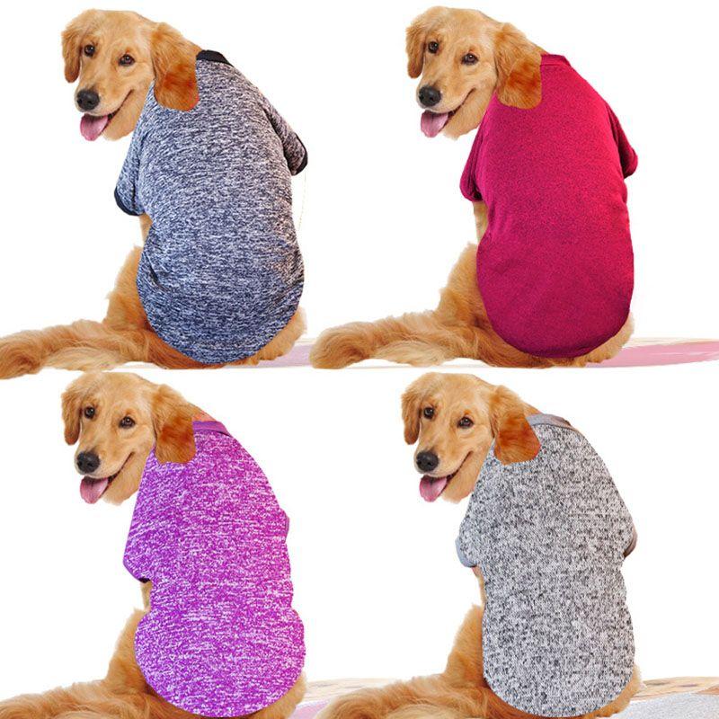 Classique moyen et grand chien Hoodies grand chien chandail chaud polaire vêtements pour animaux de compagnie pour Labrador doré berger allemand 3XL-9XL