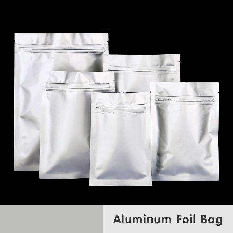 En aluminium Feuille de Plastique D'emballage De Nourriture Zip Lock Mylar Sacs Médicaux Collations Café Odeur Preuve Paquet Chaleur Joint Sachet Refermable