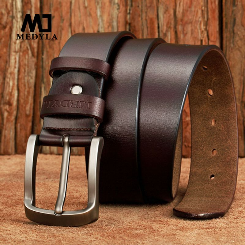 New Arrival Italian Leather Belt Men High Quality Jeans Belt Brand Vintage Strap for Men Black Coffee Color Casual Waistband