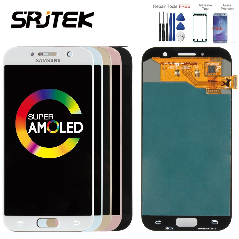 ORIGINAL 5.2 Super AMOLED LCD for <font><b>SAMSUNG</b></font> Galaxy A5 2017 Display Touch Screen Digitizer A520 A520F SM-A520F LCD Replacement