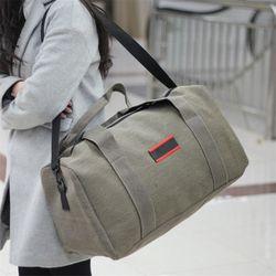 Новая многофункциональная мужская сумка Повседневная Холщовая Сумка на плечо Большая вместительная холщовая мужская дорожная сумка
