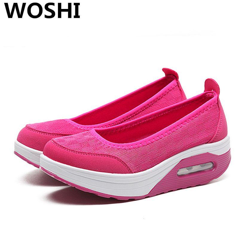 Neue Frauen Lässig leichte Schuhe Weibliche Plattform Mode Frau Schuhe Sommer Atmungsaktive Damen Schuhe frauen schuhe große größe w4