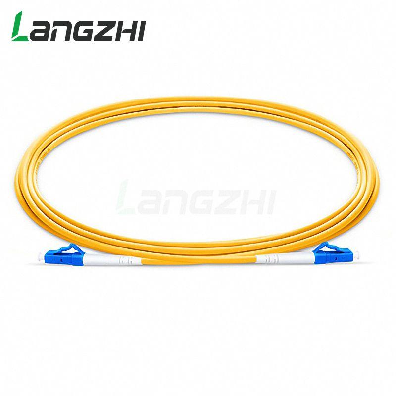 10 Pcs LC UPC zu LC UPC Simplex 2,0mm 3,0mm PVC Single mode Fiber Patch Kabel jumper faser patchkabel fibra optica