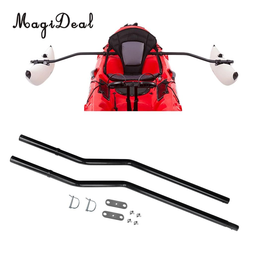 MagiDeal 1 Set Canoe Kayak Inflatable Stabilizing System Replacement Water Buoy Float Pole Outrigger Sidekick Ama Kit