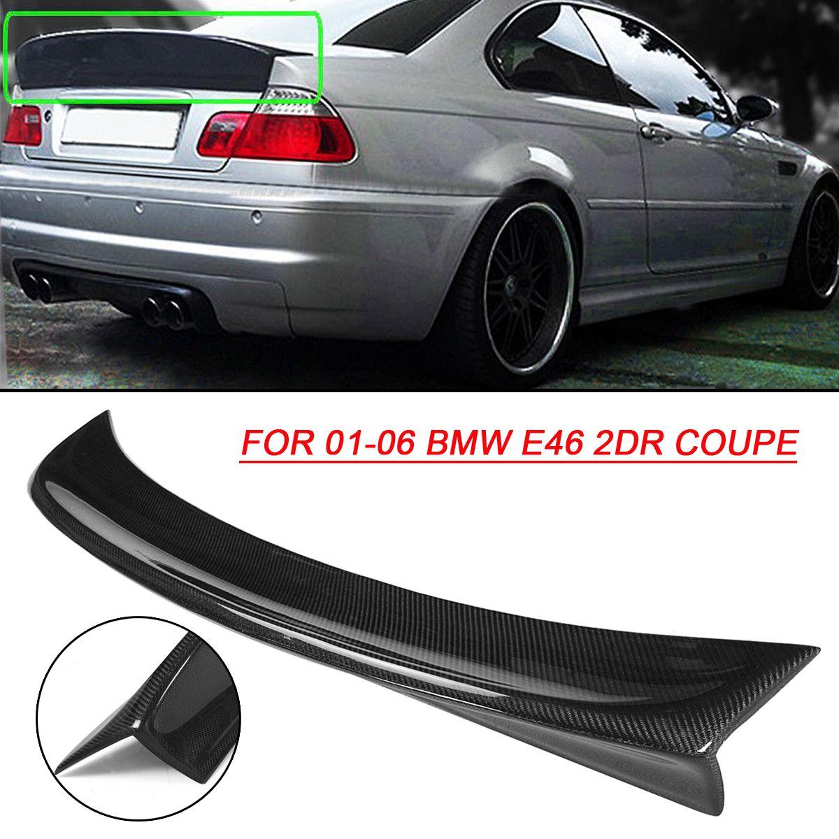 CSL Stil Entenschnabel Schwarz Hinten Carbon Faser Stamm Deckel Hinten Spoiler Flügel für BMW 2001-2006 E46 2DR Auto