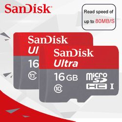 SanDisk Ultra micro SD carte 64 GB microSDHC/micro SDXC UHS-I Carte Mémoire 32 GB 80 MB/s TF Carte 128 GB 16 GB 8 GB Pour Caméra & Smartphone