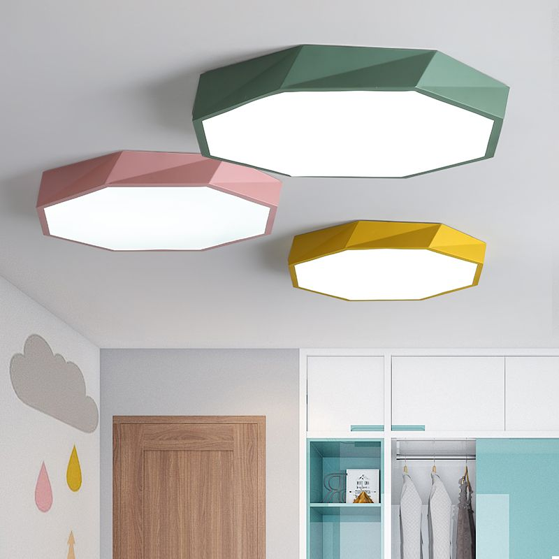 2018 Macaron color Ceiling LED chandelier Round Ultra-thin chandelier lighting for bed Children's room LEDlamp lamparas de techo