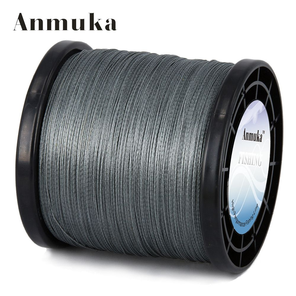 Anmuka 2000m 4 Strands Braid Line Green Gray Yellow PE Multifilament Saltwater Fishing Super Strong Carp Braided Fishing Line