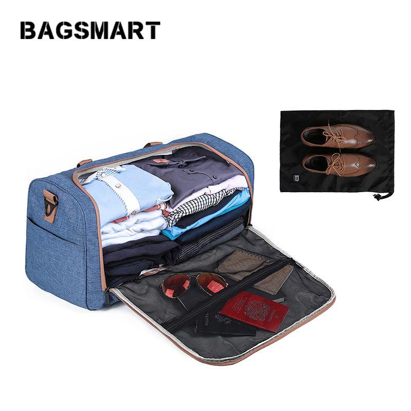 BAGSMART Designers Sac De Voyage Sac de voyage Pour Hommes et Femmes de Grande Capacité Bagages À main avec des Chaussures Sac de Voyage Bagages sacs