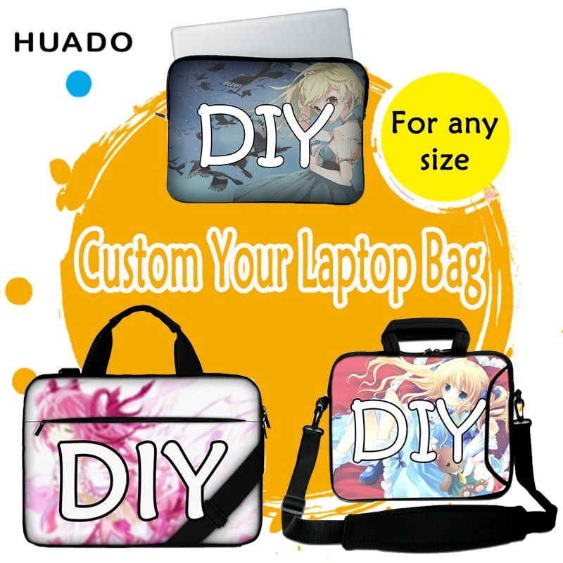Pochette d'ordinateur personnalisée 15.6, 17 housse de doublure d'ordinateur portable pour xiaomi air 13 bricolage sac à bandoulière d'ordinateur portable pour macbook air 13/dell/hp/asus/lenovo