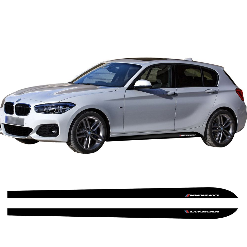 Door Side Stripe Skirt Car Sticker Decal 2017 New Style M Performance for BMW 1 Series F20 118i 120i 125i 128i 135i Car Styling