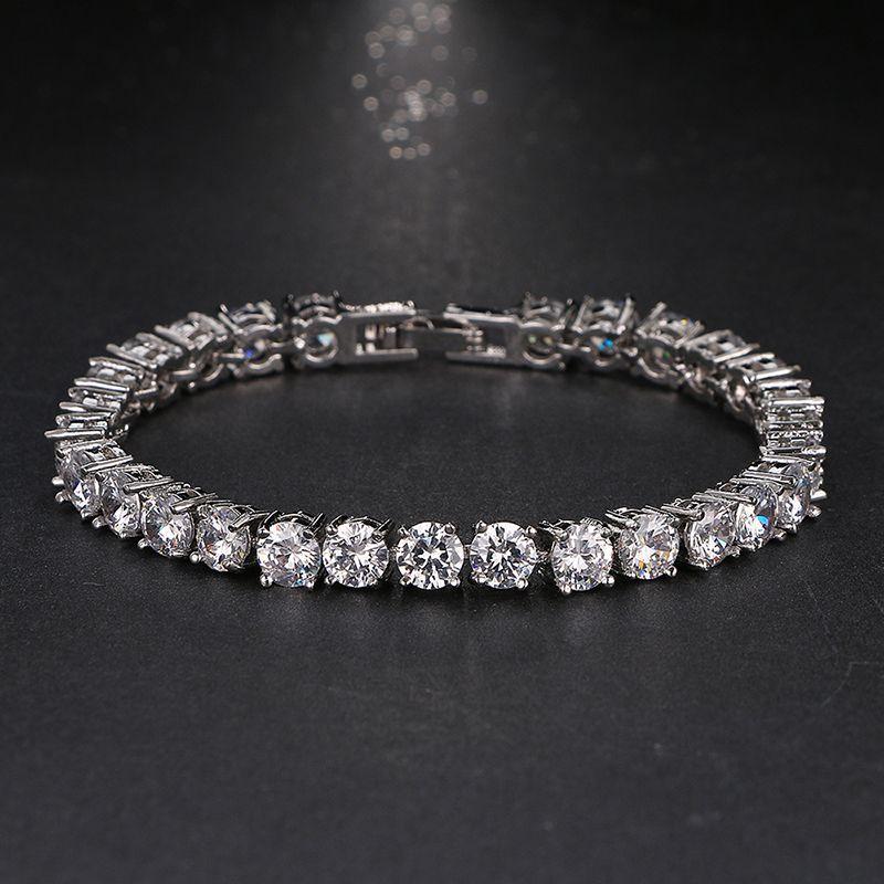 Emmaya Bracelet De Mariage Zircon Bijoux Haute Qualité AAA Ronde 0.5 Carat Créé Tennis Charme Bracelet