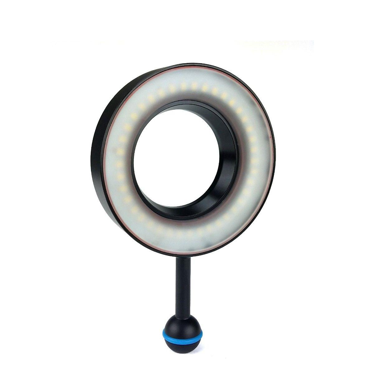 Meikon SL-108 Underwater Diving Macro Ring Flash Light Fill Lighting For Sony A7 II Canon Fujifilm X100F Waterproof Housing Case