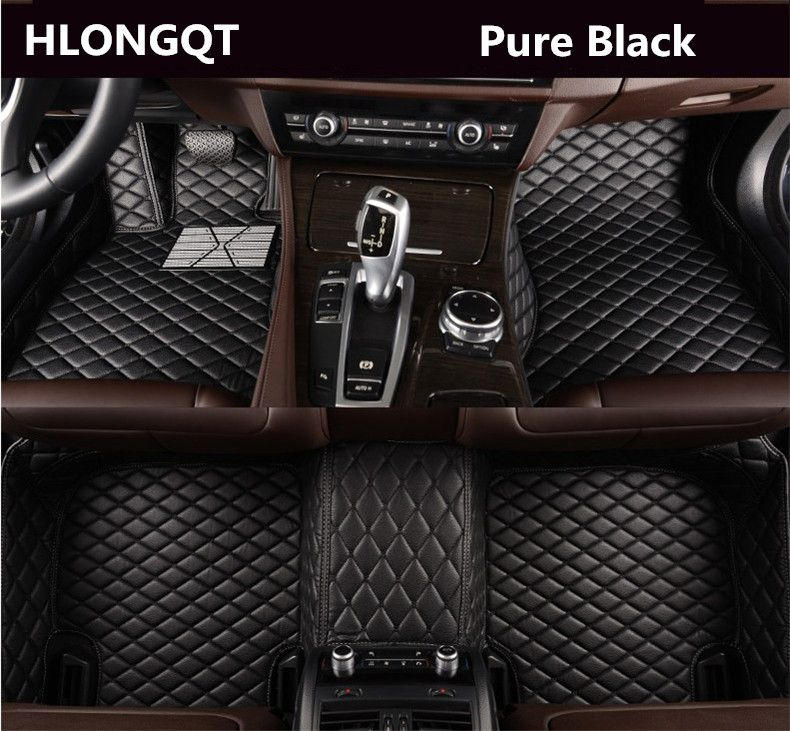 HLONGQT Auto Floor Mats For Audi A7 S7 RS7 2011-2016 Foot Step Mat High Quality Embroidery Leather Mats Free shipping