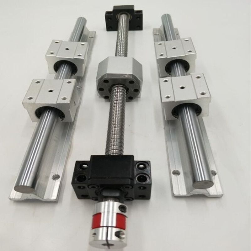 CNC parts set: 2pcs of each SBR16/20-350/900/1200mm and 3 pcs of SFU1605/1610/2010-320/850/1200mm for cnc