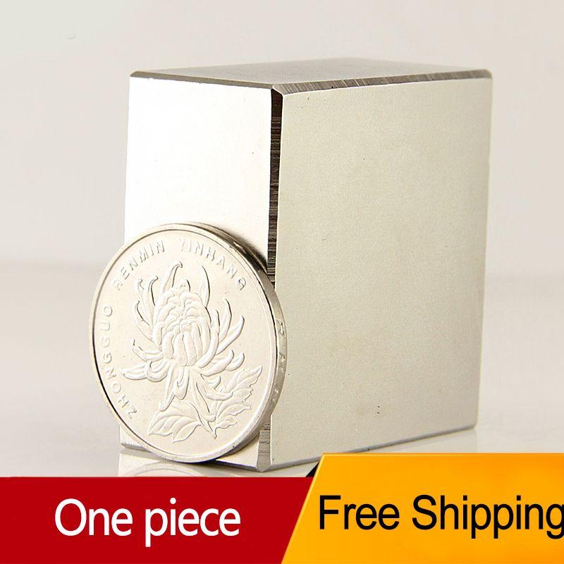 1pcs Block 40x40x20mm N52 <font><b>Super</b></font> Strong pull force 85kg magnets Neodymium Magnet high quality Free shipping Rare Earth