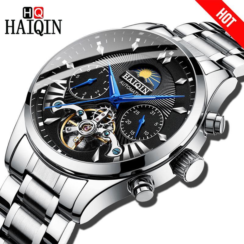 HAIQIN männer/herren uhren top-marke luxus automatische/mechanische/luxus uhr männer sport armbanduhr herren reloj hombre tourbillon