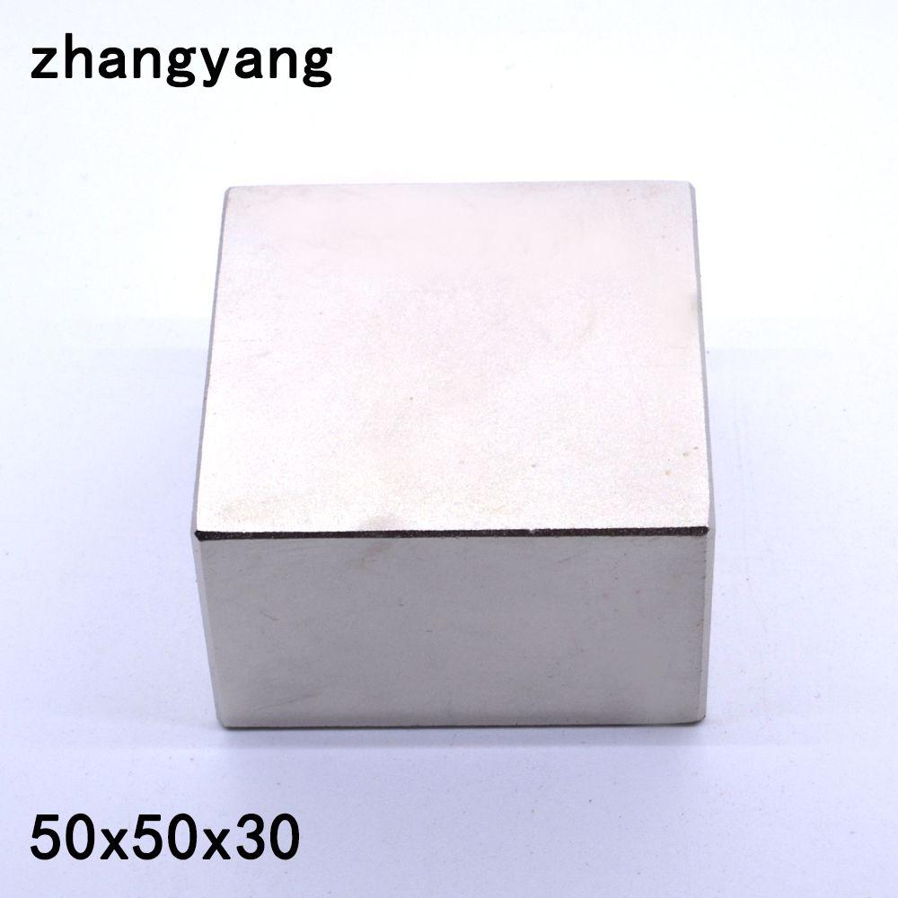 N52 1PCS Block 50x50x30 mm Super Strong Rare Earth magnets Neodymium Magnet 50*50*30 mm 50x50x30mm