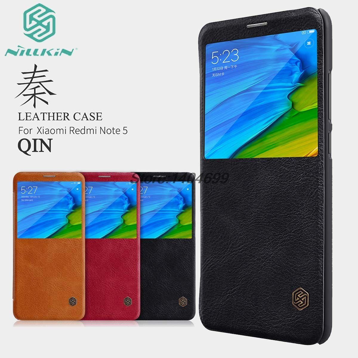 Xiaomi Redmi Note 5 Pro Flip Case Xiaomi Redmi Note 5 Case Nillkin Qin Series PU Leather Cover Case For Xiaomi Redmi Note 5 Pro