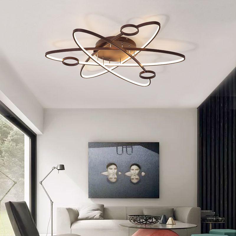 Chandelierrec Modern Kid's Room LED Chandeliers Lights Into Low Ceilings AC90-260V Ceiling Chandeliers For Living Room Bedroom