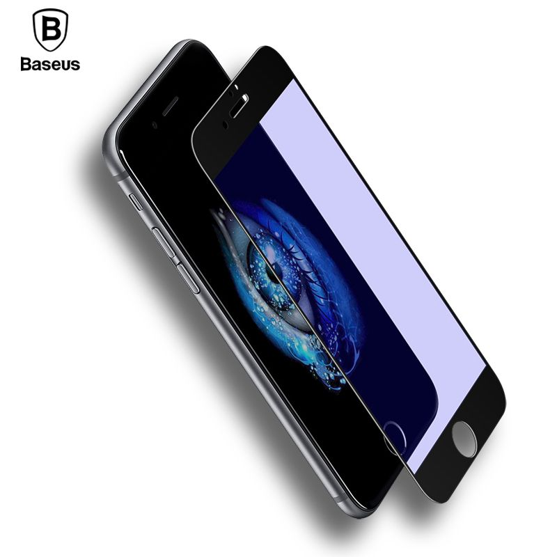 Baseus Premium 0.2mm Screen Protector Tempered Glass Film For iPhone 8 7 Plus Ultra Thin 9H Full Cover Protective Toughened Film