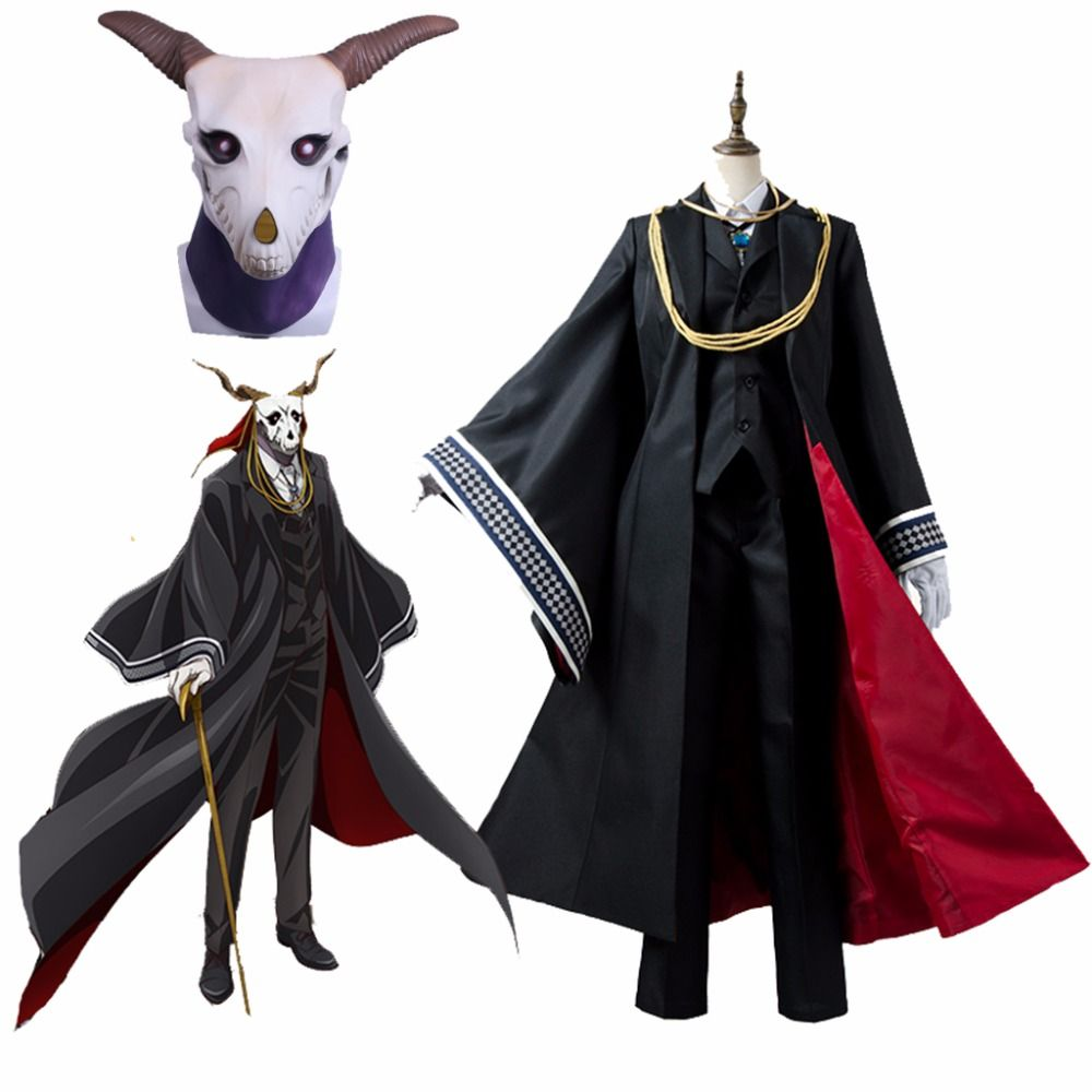 Cosplaydiy Anime The Ancient Magus Bride Cosplay Costumes Elias Costumes With Mask Mahoutsukai no Yome Costume Mask