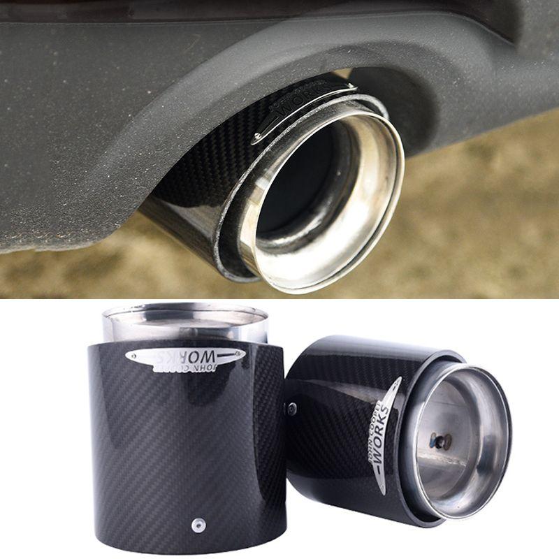 Auto carbon fiber auspuff tip Muffler tipps fit für mini cooper R55 R56 R57 R58 R59 R60 R61 F54 F55 f56 F57 F60 Auto zubehör