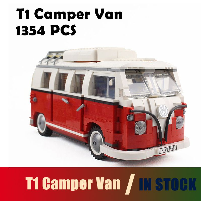 Compatible with lego Model Building Blocks the T1 Camper Van kits 10220 Technic car Toys