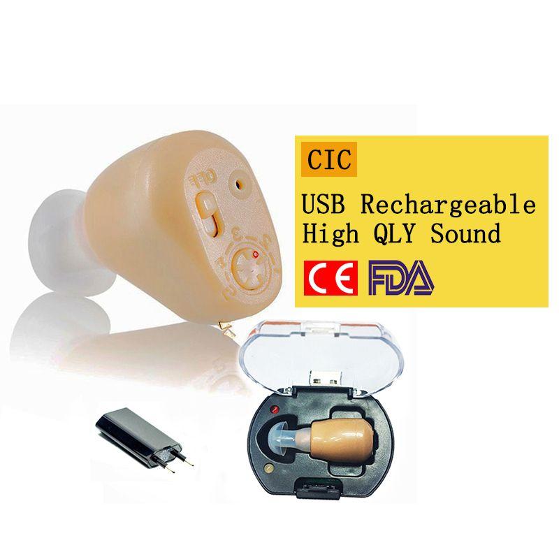 2018 NEW Rechargeable Mini Hearing Aid Hearing <font><b>Amplifier</b></font> Ear Sound <font><b>Amplifier</b></font> Hearing Aids Rechargeable Hearing aid