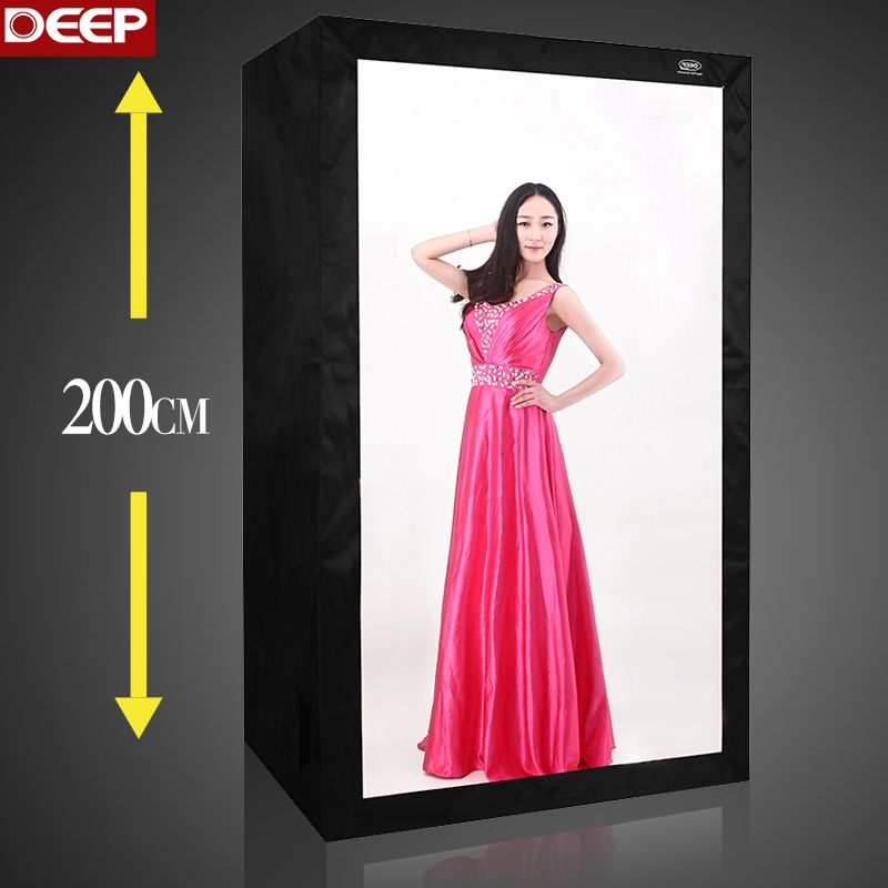 DHL/TNT DEEP BIG 2METER PHOTO TENT 6PCS LED PHOTOGRAPHY SOFT BOX KIT 200CM LED light Aluminium reflection fabric 120X80X200CM