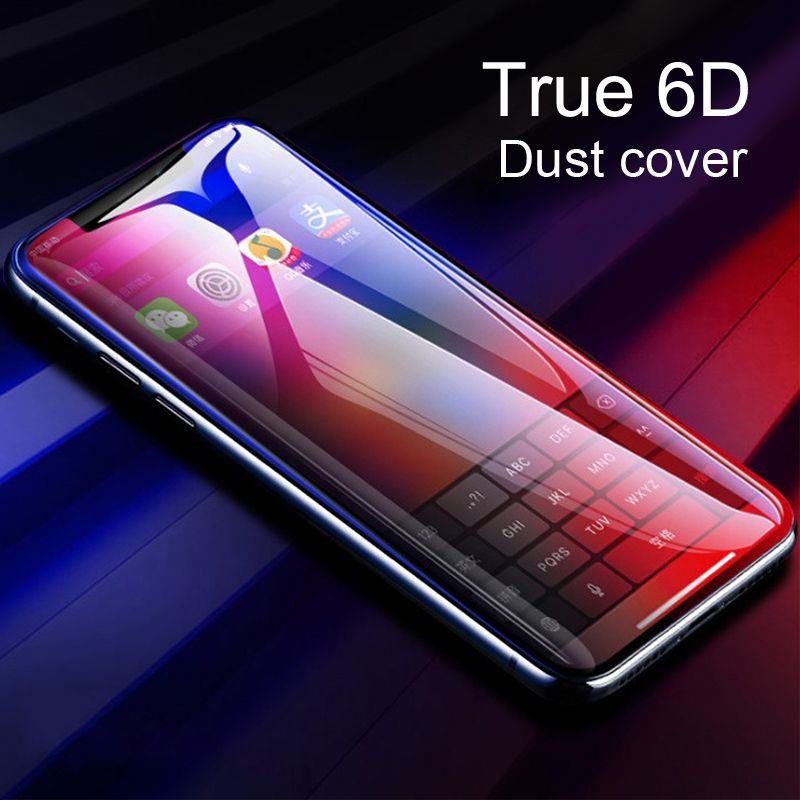 Twitch 6D 5D Tempered Glass For iPhone 7 Full Cover Screen Protector 9H Hardness Clear Screen Protector Glass For iphone X 8 6