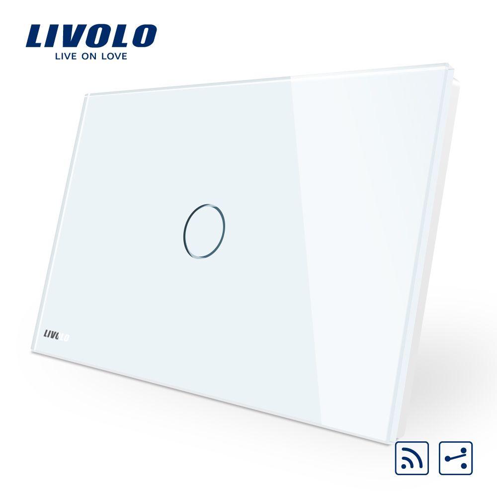 Manufacturer Livolo, Crystal Glass Panel Smart Switc AU/US standard, C901SR-11, 2-Way Wireless Remote Home Light Switch