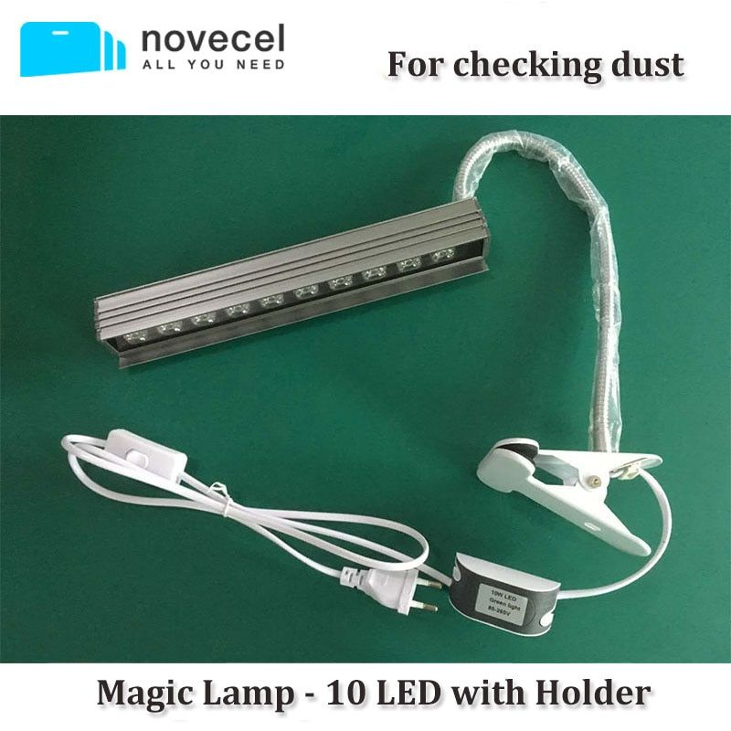 Novecel New Magic Lamp For Checking Dust -10 LED with Securing Clip Holder